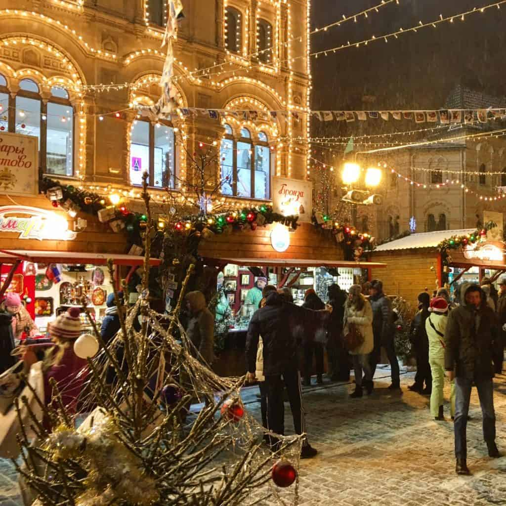 Christmas Market in Moscow